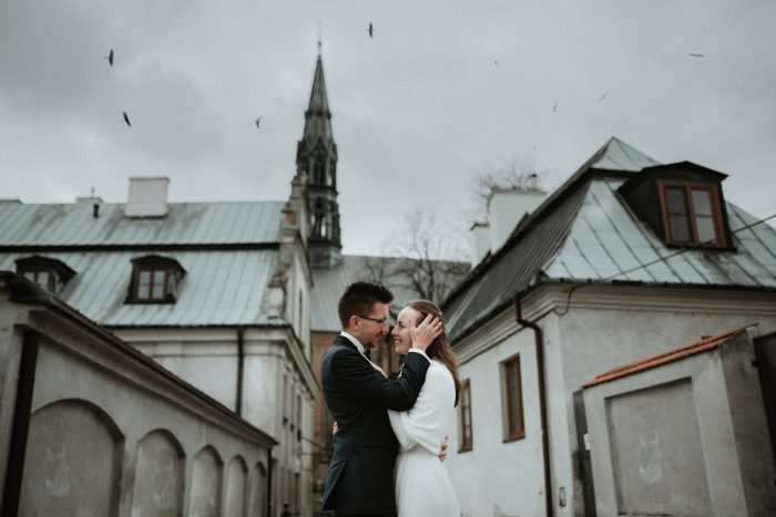 top pic of the month couple on cloudy wedding day