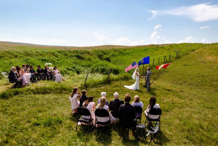 US Canadian border ceremony