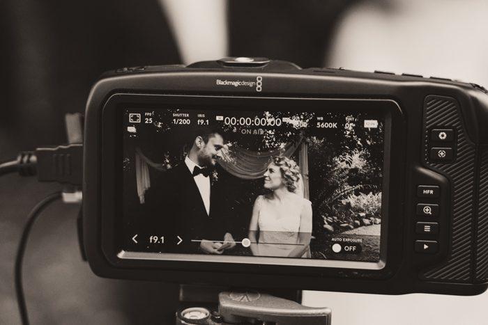 camera shot of wedding