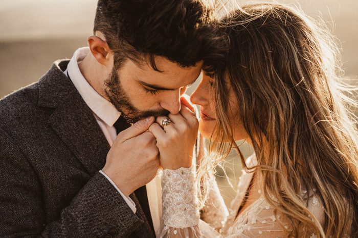 couple closeup wedding industry culture
