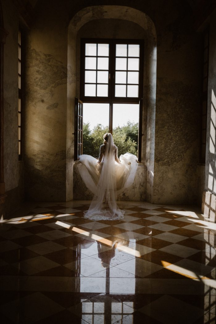 March top pic bride in front of window