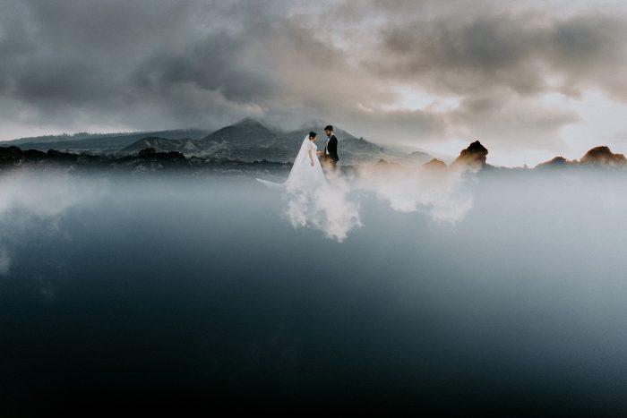surreal reflection photo of couple