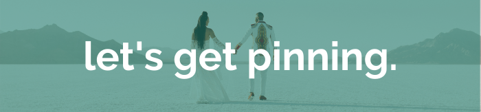 couple in the desert with let's get pinning text overlay