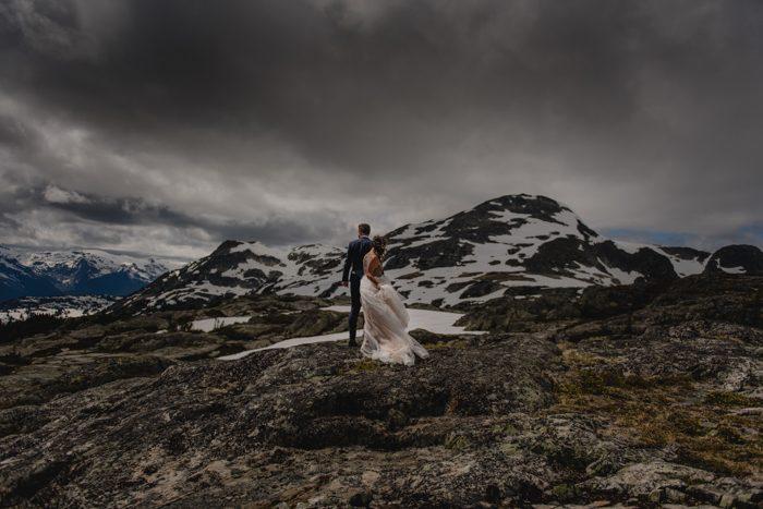 stormy wedding photos