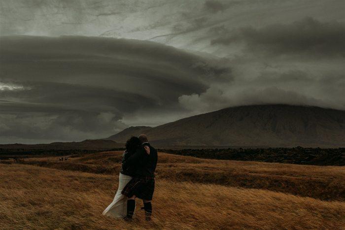 storm clouds wedding photos