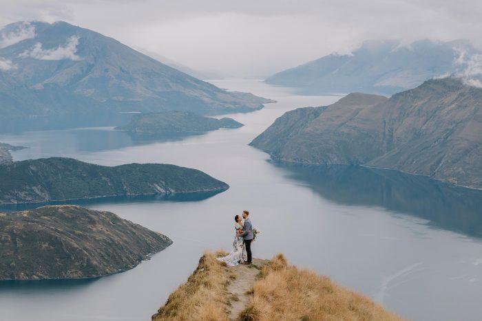 New Zealand epic wedding shot