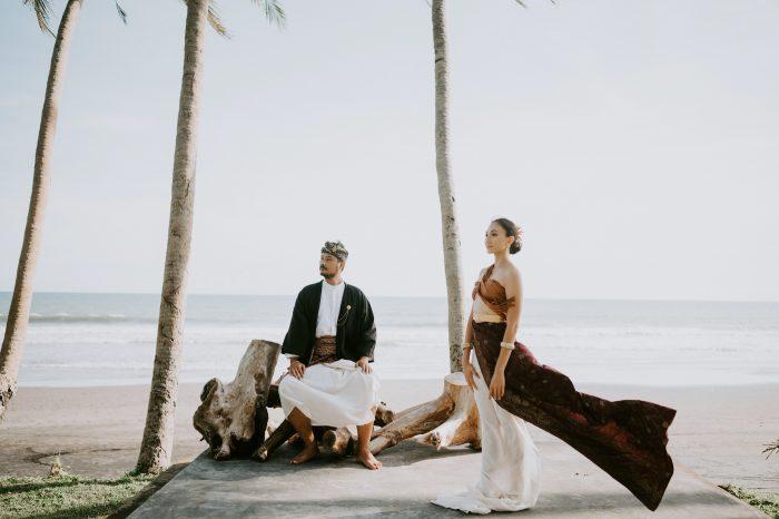cultural couple on beach