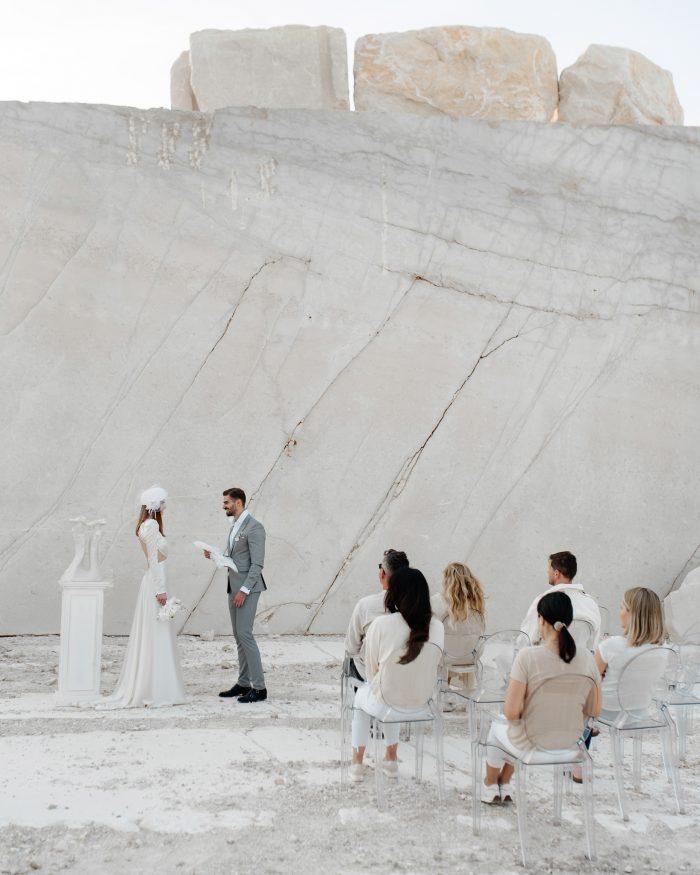ceremony shot of white wedding
