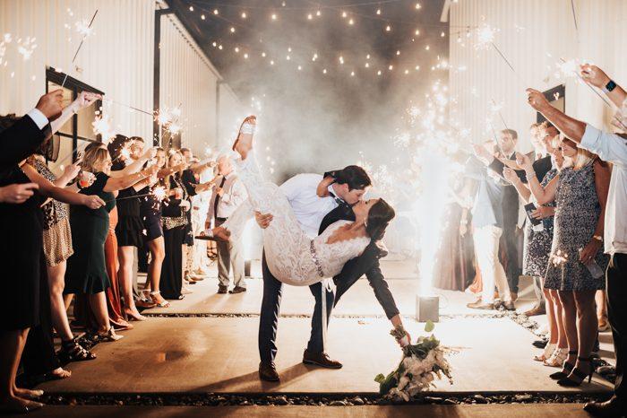 wedding send off dancing dip